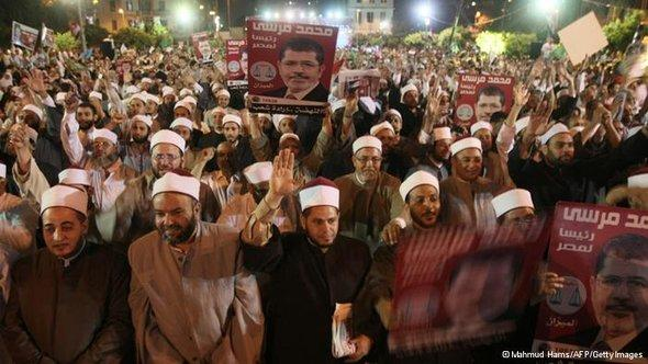 Members of the Muslim Brotherhood at a pro-Morsi rally in Cairo, Egypt (photo: Mahmud Hams/AFP/Getty)