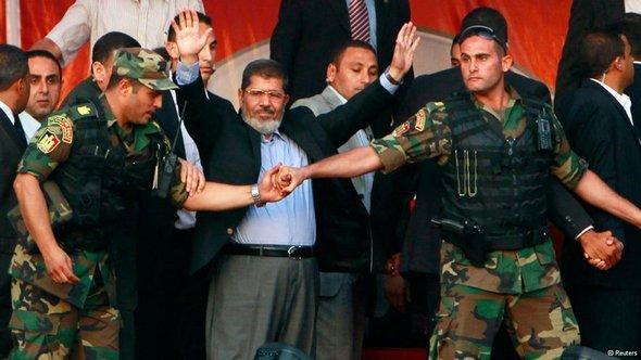 Egypt's president Morsi shortly before his deposition in Cairo (photo: Reuters)