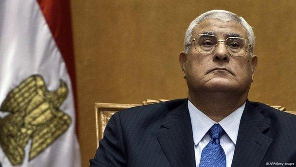 Interim President Adly Mansour (photo: AFP/Getty Images)