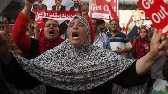 A demonstration against the Muslim Brotherhood in Cairo (photo: Reuters)
