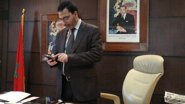 PJD's Minister of Communications Mustapha Khalfi (photo: DW)