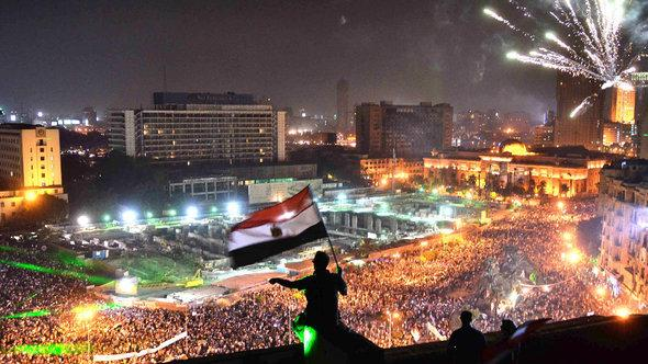 Opponents of Morsi on Tahrir Square in Cairo (photo: AFP/Getty Images)
