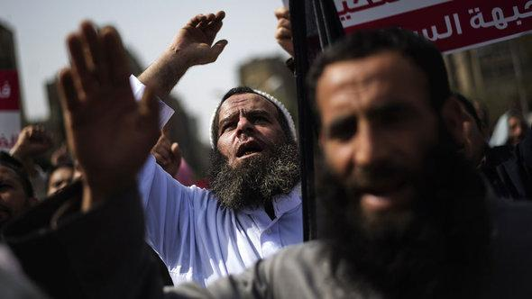 Salafist protesters in Cairo (photo: AFP/Getty Images)