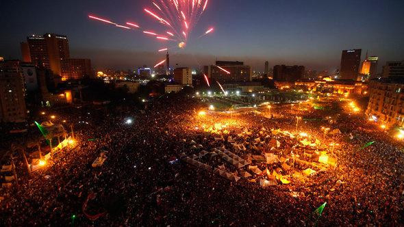 On Tahrir Square on June 30th, thousands celebrate the ousting of Muhammed Morsi (photo: Reuters)