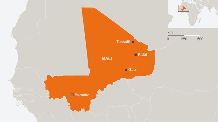 Map of Mali (image: DW)