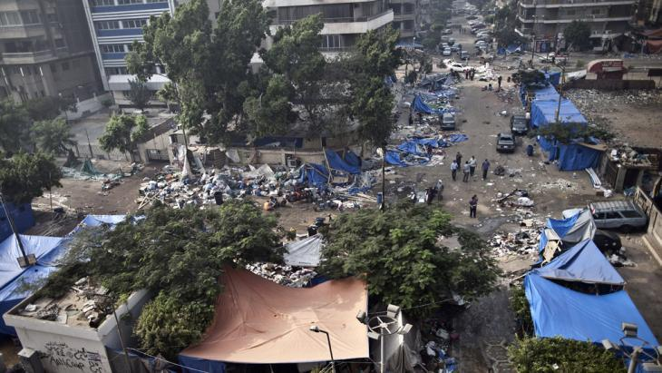 Disarray and destruction in the wake of the clearance of the pro-Morsi protest camps (photo: AFP/Getty Images)