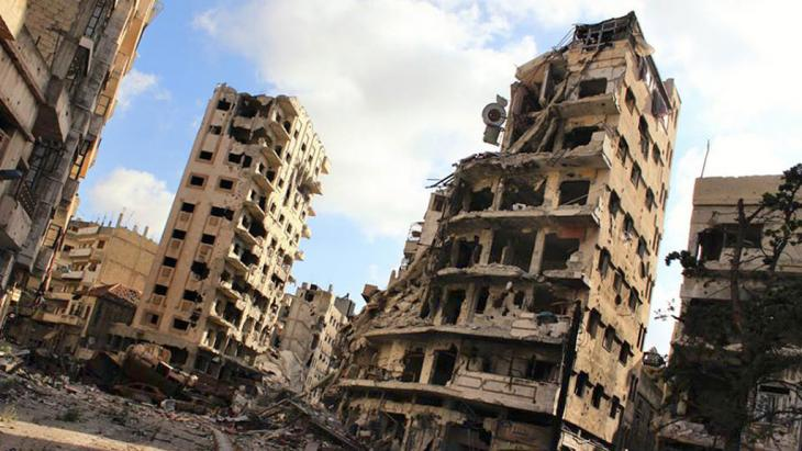 Destruction in the Syrian city of Homs (photo: AP)