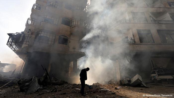 Homes destroyed by Syria's civil war in Homs (photo: Reuters)
