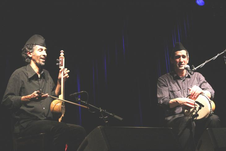 "Bassem Hawar (left) and Saad Thamir of ""Duo Sidare"" at the Morgenland Festival in Osnabrück (photo: Marian Brehmer)"