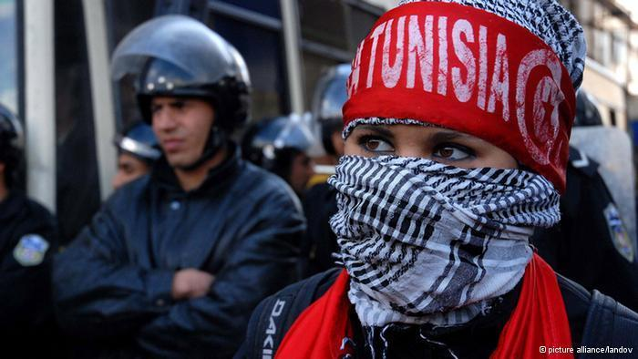 Student activists demonstrating in Tunis (photo: Picture Alliance)