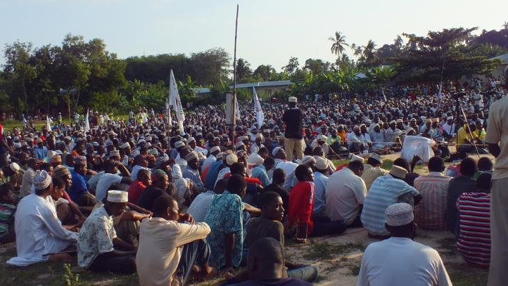 Uamsho rally in Zanzibar (photo: Mohammed Khelef/DW)