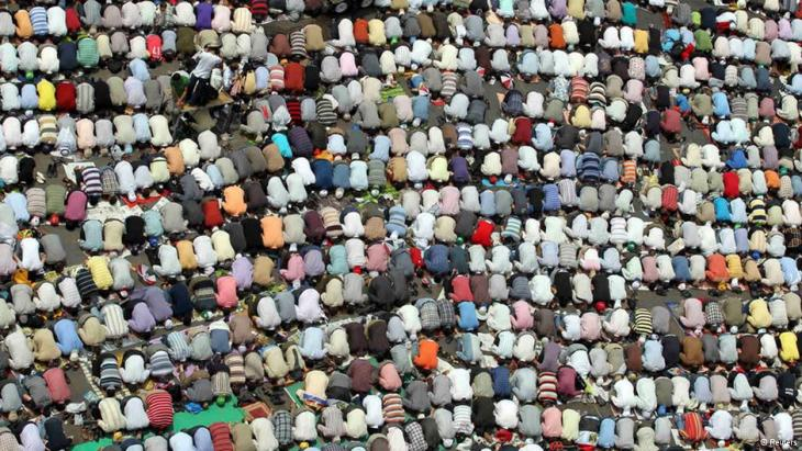 Friday prayer on Tahrir square (photo: Reuters)