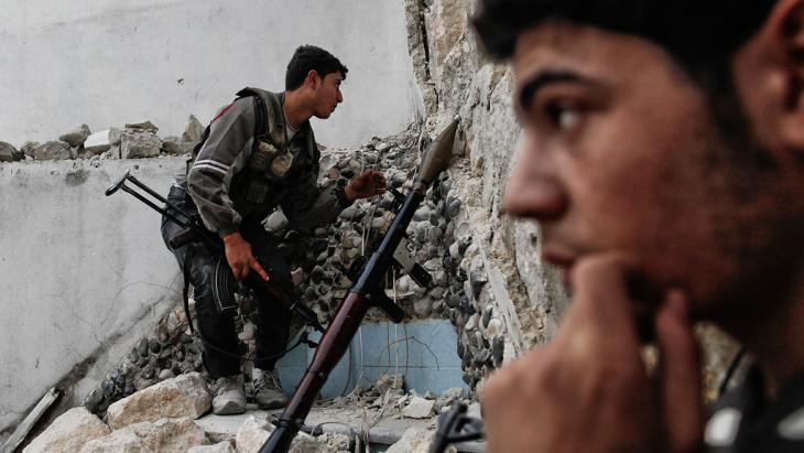 Rebel figherts in Aleppo (photo: Javier Manzano/AFP/Getty Images)