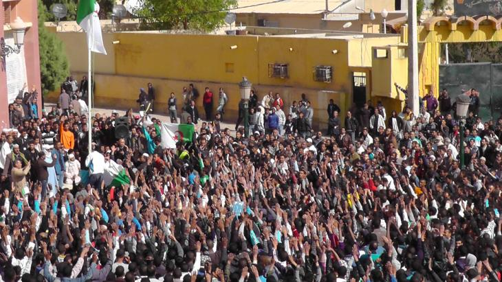 Pro-democracy demonstration in Algier (photo: Faiza Souici)
