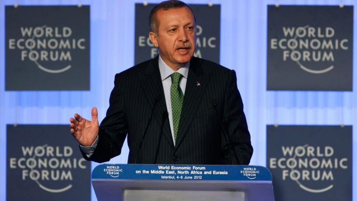 Turkey's Prime Minister Erdogan at the World Economic Forum in Davos (photo: Reuters)