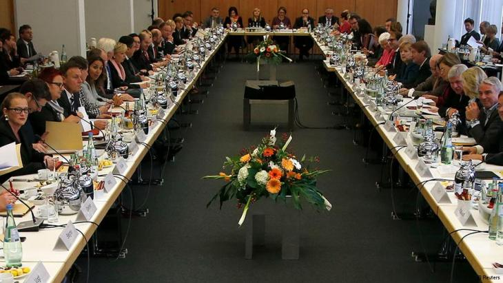Members of the CDU/CSU and SPD in negotiations to form Germany's next government (photo: Reuters)