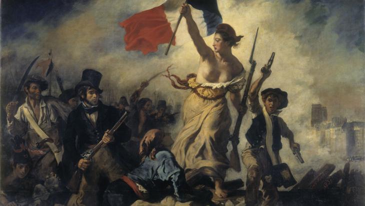 Eugène Delacroix' Liberty Leading the People, 1830 (source: DW Archive)