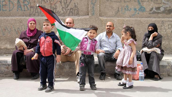 Palästinensische Flüchtlinge in Yarmuk, Damaskus; Foto: Getty Images/AFP