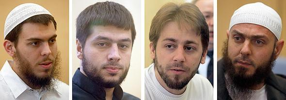 "The members of the so-called ""Sauerland Group"" in court (photo: picture-alliance/dpa)"