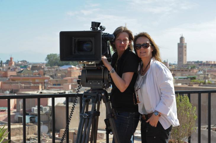 Caroline Link (right), seen here with her director of photography Bella Halben (photo: © Ascot Elite)