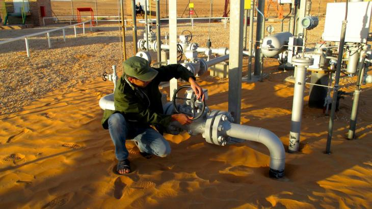 Production of crude oil in Libya (photo: DW/K. Zurutuza)