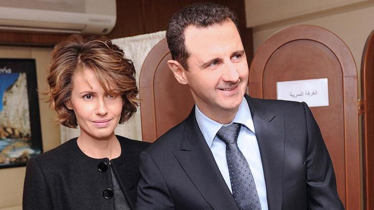 Bashar and Asma Assad in 2012 (photo: picture-alliance/dpa)