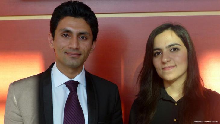 Jamshed Haidery (left) und Zarifa Jalali (photo: DW/Hasrat-Nazimi)