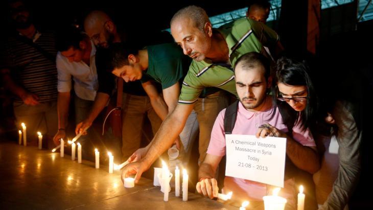 Trauer um die Opfer der Ghouta-Giftgasangriffe in Beirut; Foto: Reuters