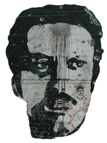 Ghassan Kanafani graffito (photo: Wikipedia)