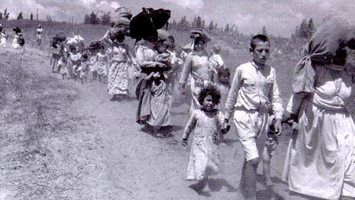 Palestinian refugees in 1948 (sourse: Wikipedia)