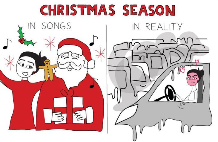 Illustration Christmas Season von Maya Zankoul; Foto: CC-BY-NC-ND