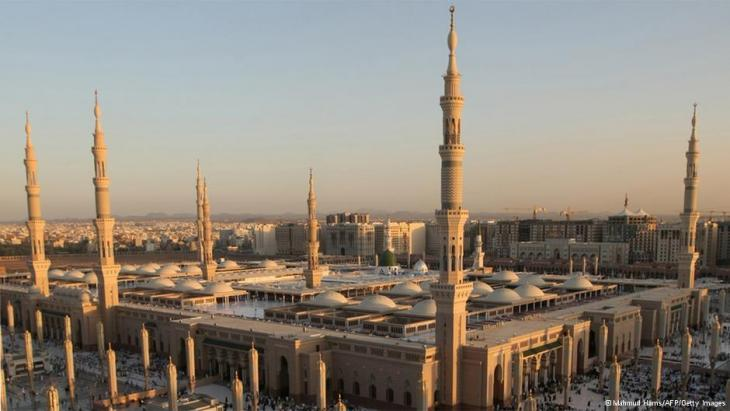 Al-Masjid al-Nabawī in Medina, Saudi Arabia (photo: Mahmoud Hams/AFP/Getty Images)