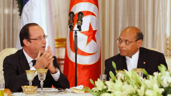 French President Francois Hollande and Tunisian President Moncef Marzouki (right) in Carthage Palace in Tunis (photo: Reuters)