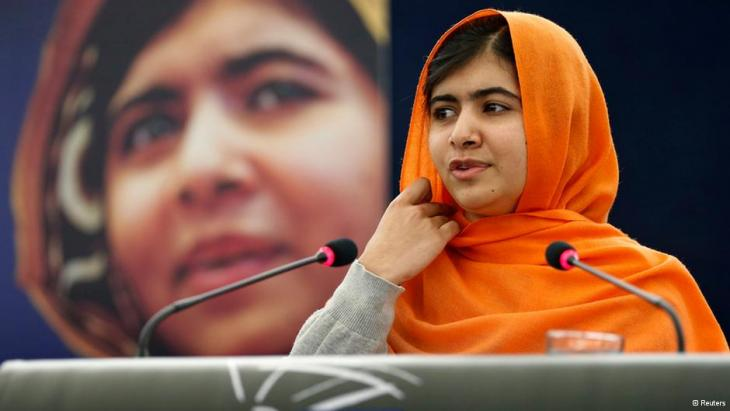 Malala Yousafzai addressing the European Parliament in Strasbourg on the occasion of her winning the Sakharov Prize 2013 (photo: Reuters/Vincent Kessler)