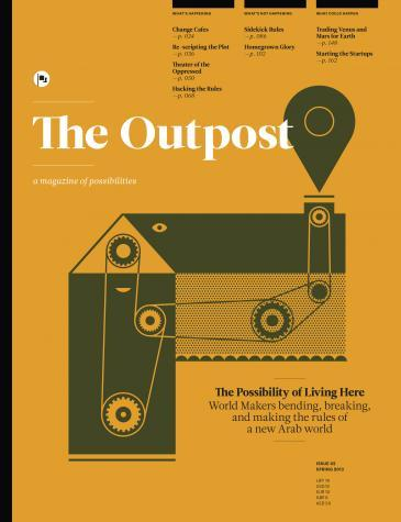 "Cover of the second issue of ""The Outpost"""