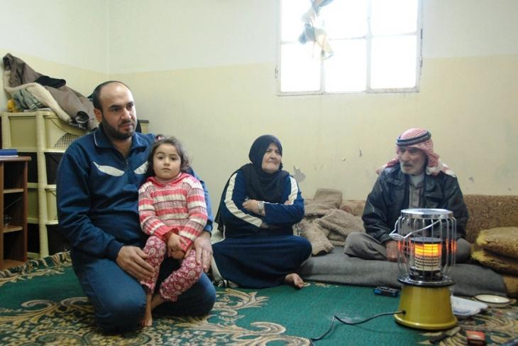 Hanan and her family in Manshia, Syria (photo: Laura Overmeyer)