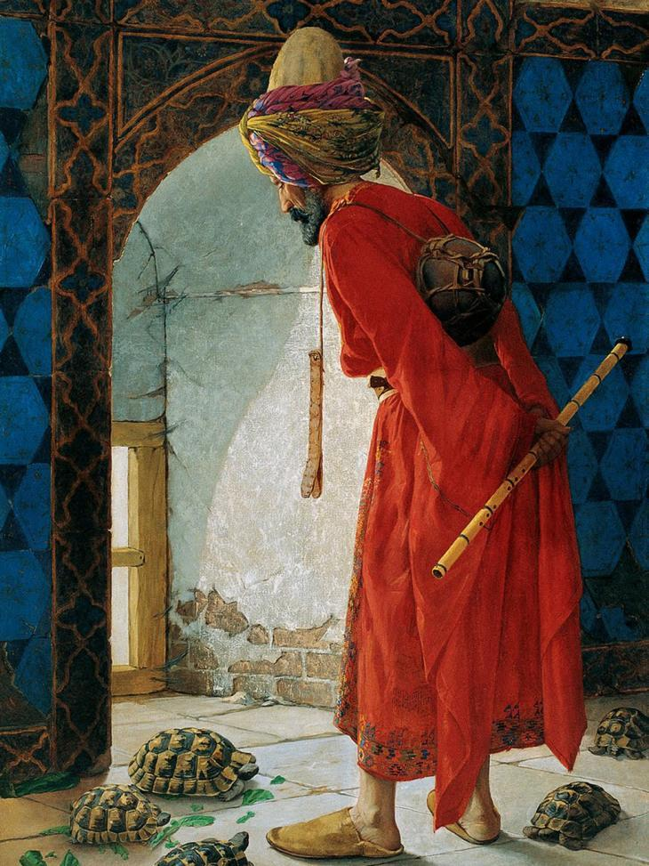 "Osman Hamdi Bey's ""The Tortoise Trainer"" (source: gemeinfrei)"