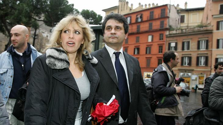 Alessandra Mussolini, left, and Roberto Fiore (photo: Getty Images)