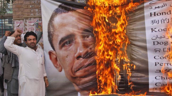 Anti-US demonstration by the Islamist Awami Majlis-e-Amal in Pakistan (photo: AP)