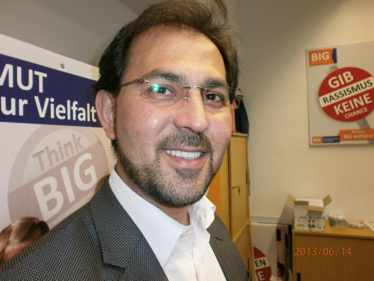 Haluk Yildiz, federal chairman of the Alliance for Innovation and Justice, BIG (photo: Ulrike Hummel)