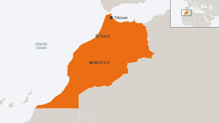 Map showing the location of Tétouan (photo: dw.de)