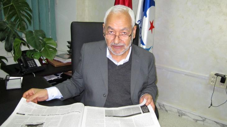 Chairman of the Islamist Ennahda party, Rachid Ghannouchi (photo: DW)