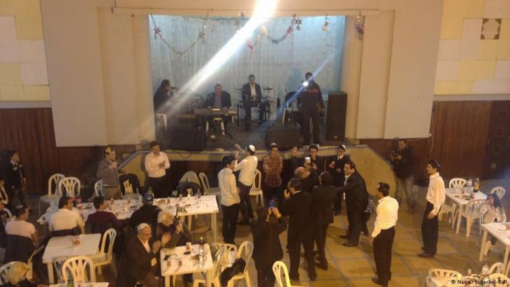 A small group of Jews celebrate a bar mitzvah in central Tunis (photo: Naomi Scherbel-Ball)