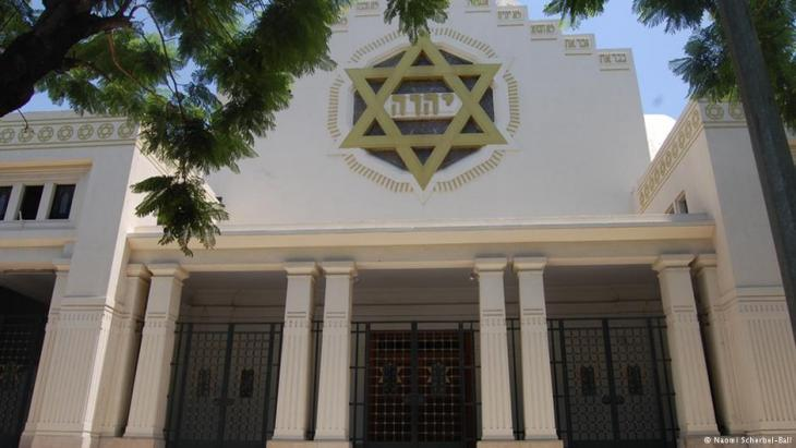 Tunis' Great Synagogue on Liberty Avenue in Tunis (photo: Naomi Scherbel-Ball)