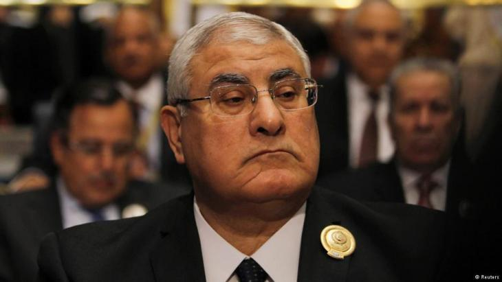Egypt's transitional president Adly Mansour (photo: Reuters)