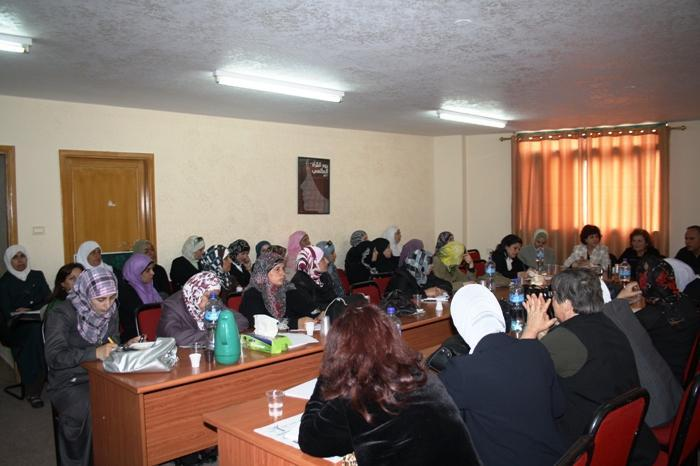 A meeting of the women's shadow council in Ramallah (photo: PWWSD)