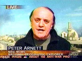 Peter Arnett on NBC USA (AP)