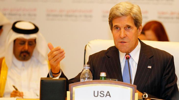 US Secretary of State John Kerry at a meeting of the Friends of Syria Group (photo: Reuters)