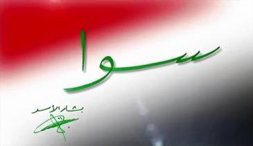 "The ""Sawa"" logo of the pro-Assad campaign (source: Sawa/Facebook)"