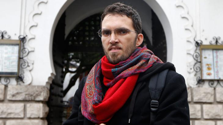 Ludovic-Mohamed Zahed outside Europe's first gay- and lesbian-friendly mosque (Photo: Reuters)